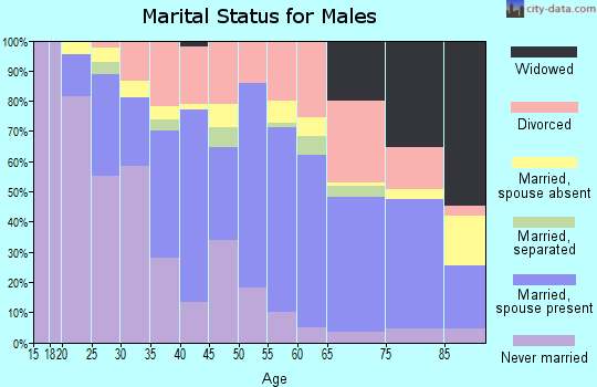 Zip code 50316 marital status for males