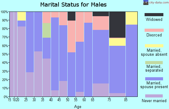 Zip code 50563 marital status for males