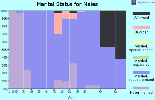 Zip code 50668 marital status for males