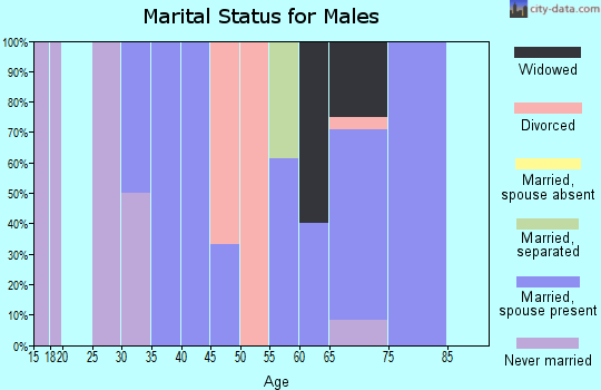 Zip code 50861 marital status for males