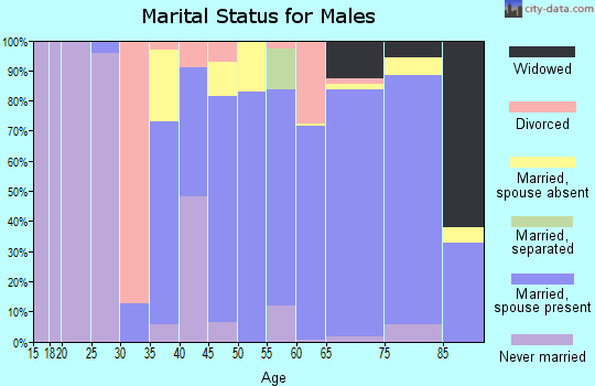 Zip code 51108 marital status for males