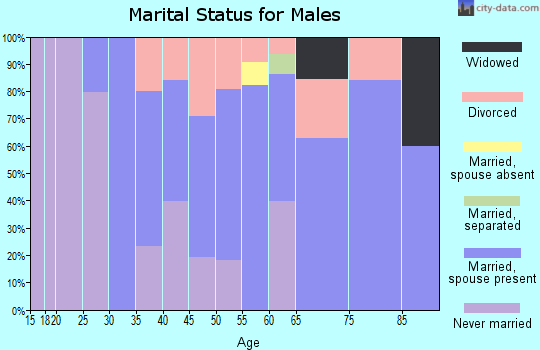 Zip code 51109 marital status for males