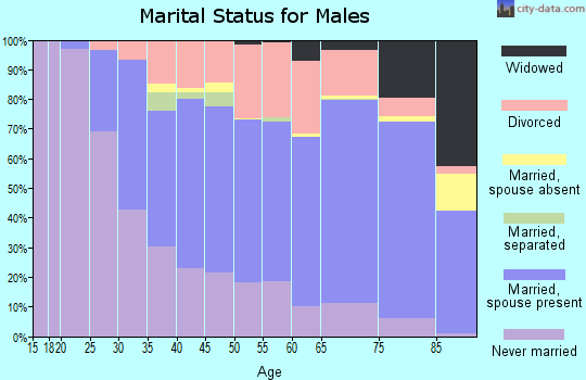 Zip code 52001 marital status for males