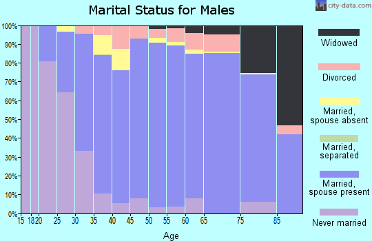 Zip code 52002 marital status for males