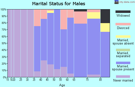 Zip code 52151 marital status for males