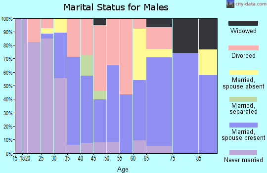 Zip code 52233 marital status for males