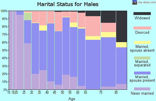 Zip code 52577 marital status for males