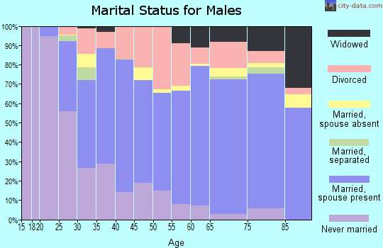 Zip code 52601 marital status for males
