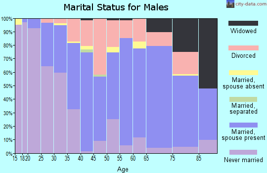 Zip code 52632 marital status for males