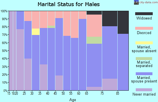 Zip code 52778 marital status for males