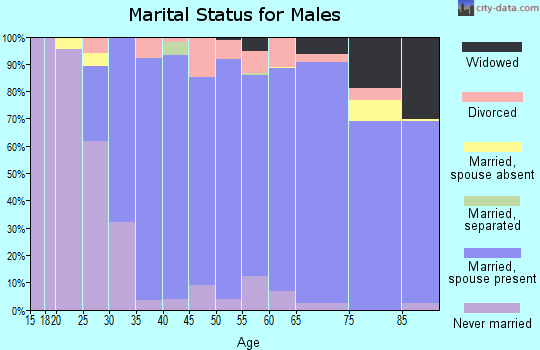 Zip code 53012 marital status for males