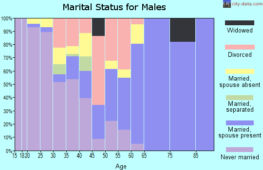 Zip code 53023 marital status for males