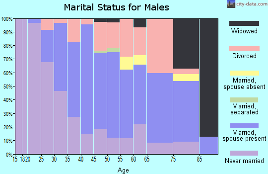 Zip code 53048 marital status for males
