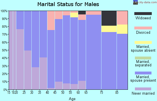 Zip code 53058 marital status for males