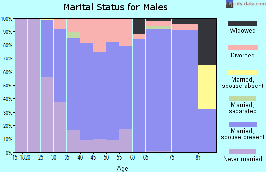 Zip code 53080 marital status for males