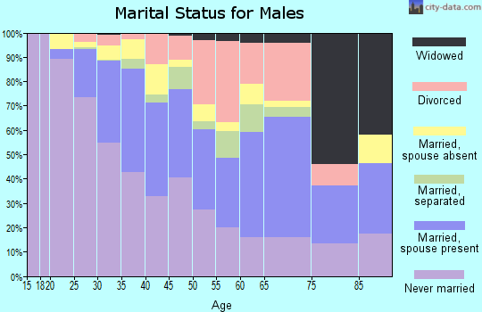 Zip code 53204 marital status for males