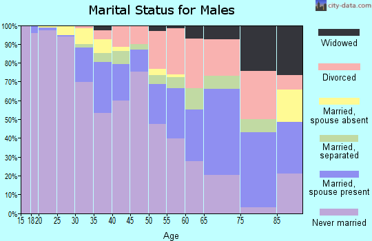 Zip code 53206 marital status for males