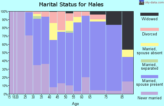 Zip code 53530 marital status for males