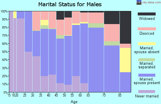 Zip code 54143 marital status for males