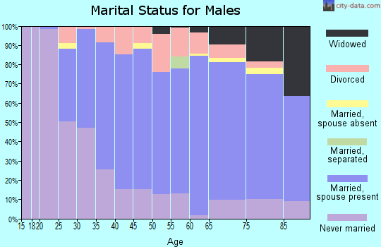 Zip code 54730 marital status for males
