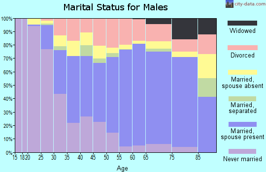 Zip code 55021 marital status for males