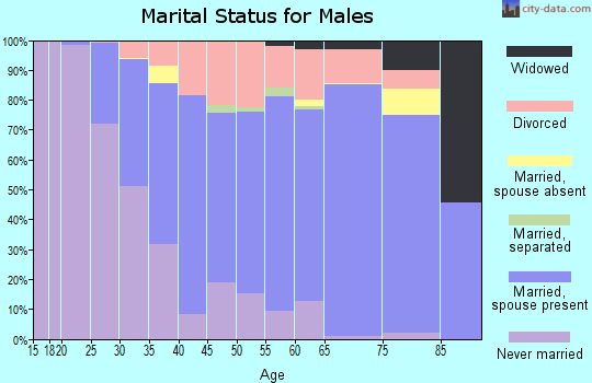 Zip code 55051 marital status for males