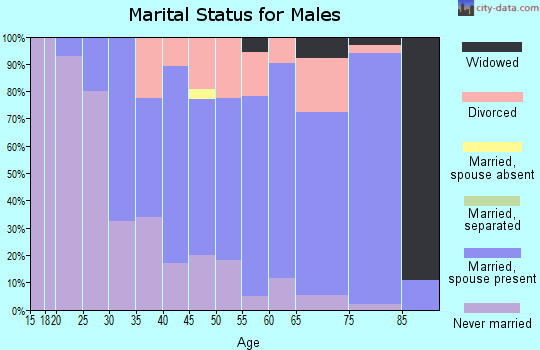 Zip code 55071 marital status for males