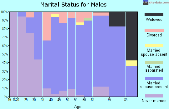 Zip code 55115 marital status for males