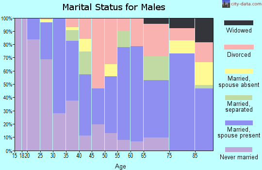 Zip code 55344 marital status for males