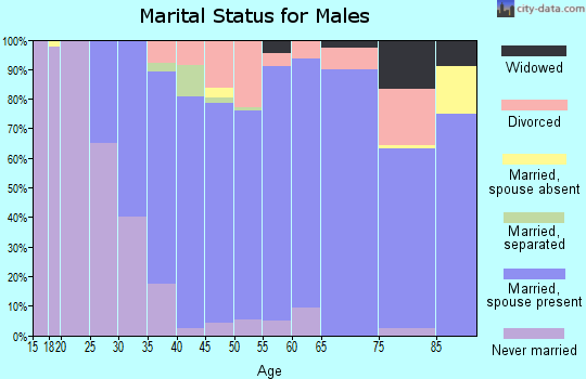 Zip code 55359 marital status for males