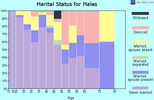 Zip code 55415 marital status for males