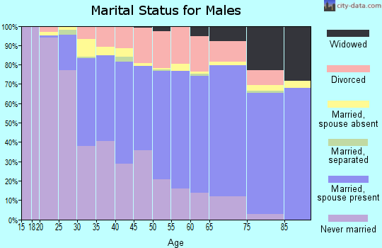 Zip code 55423 marital status for males
