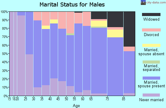 Zip code 56057 marital status for males