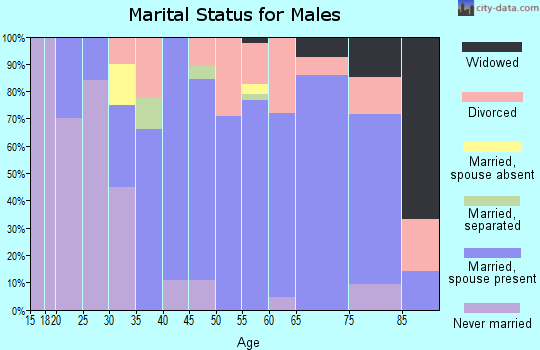 Zip code 56465 marital status for males