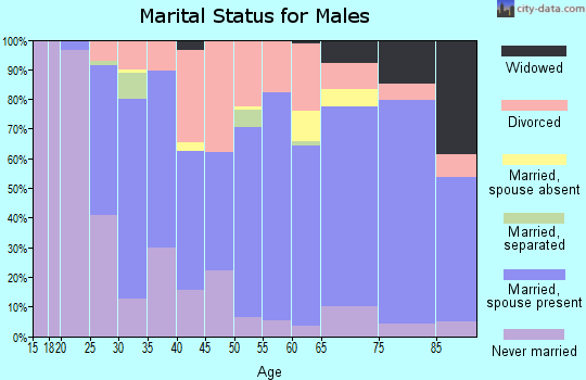 Zip code 56474 marital status for males