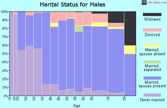 Zip code 56572 marital status for males