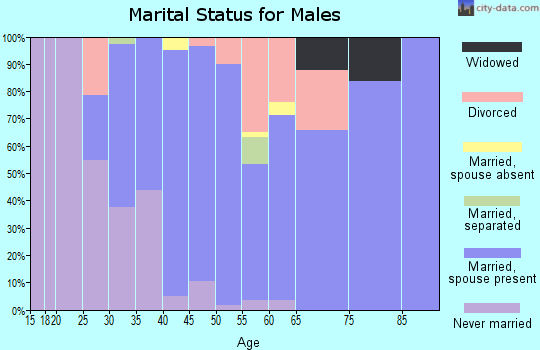 Zip code 56630 marital status for males