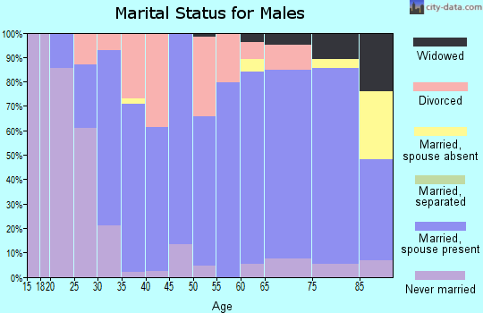 Zip code 57212 marital status for males