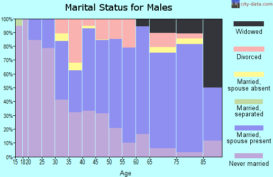 Zip code 57262 marital status for males