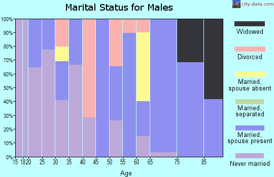 Zip code 57270 marital status for males