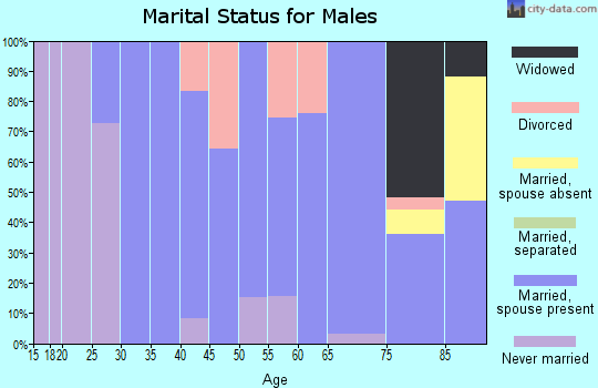 Zip code 57567 marital status for males