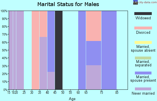 Zip code 57652 marital status for males