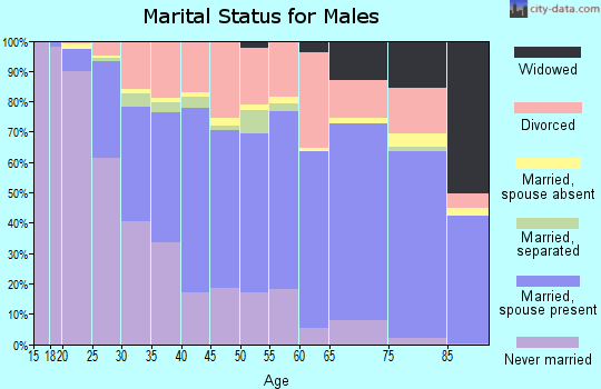Zip code 57701 marital status for males