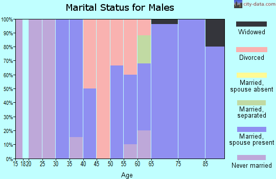 Zip code 59028 marital status for males