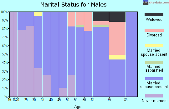 Zip code 59041 marital status for males
