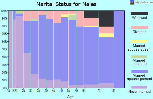 Zip code 59106 marital status for males