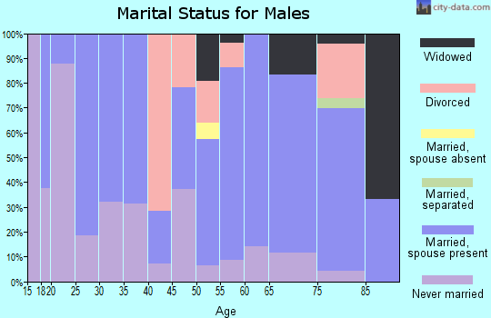 Zip code 59263 marital status for males