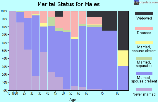 Zip code 59330 marital status for males