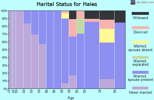 Zip code 59430 marital status for males
