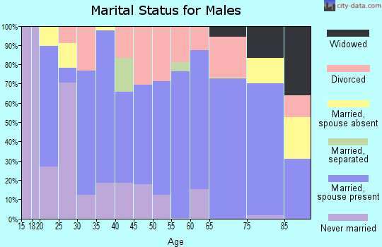 Zip code 59457 marital status for males